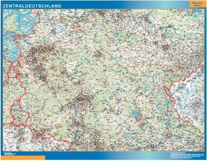 Mapa Alemania central