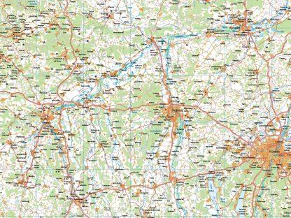 Mapa Alemania sur carreteras