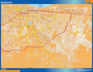 Mapa de Managua