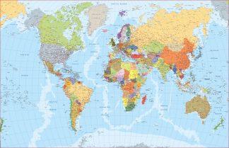 Mapa mundo ingles